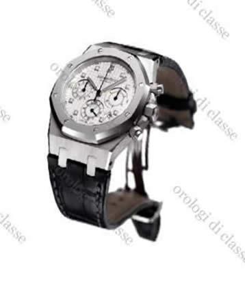 Orologio Audemars Piguet Cronografo Automatico Pelle #5501