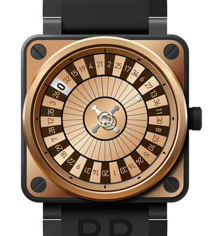 Orologio Bell & Ross BR 01 Casino Pink Gold Only Watch 2011 #11251