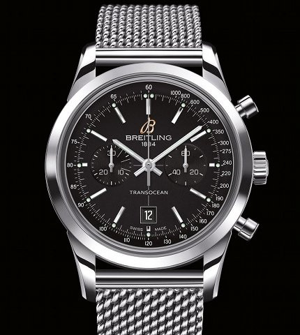 Orologio Breitling Transocean Chronograph 38 Acciaio #11594