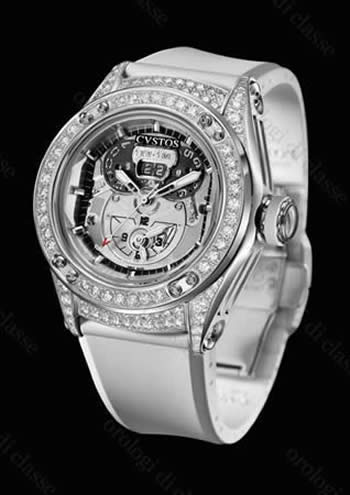 Orologio Cvstos Challenge-R TWIN-TIME ST & DIAMONDS White #6431