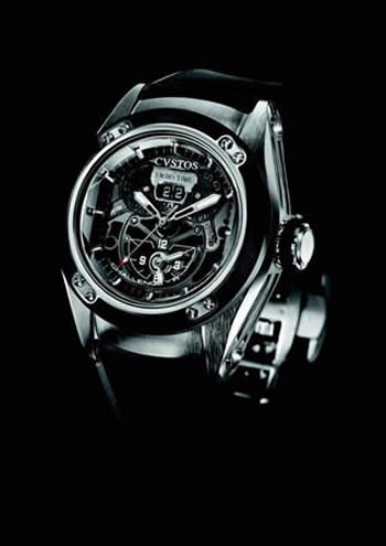 Orologio Cvstos CHALLENGE-R TWIN-TIME ST BLACK #10684
