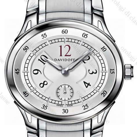 Orologio Davidoff Lady quartz silvered dial stainless steel bracelet #6505