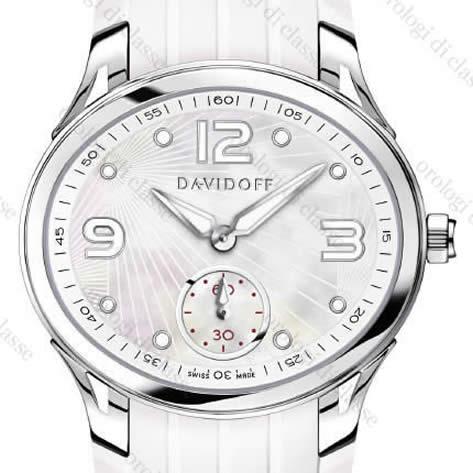 Orologio Davidoff Lady quartz white MOP dial rubber strap #6507