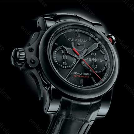 Orologio Graham Chronofighter Trigger Back in Black Rattrapante #11064