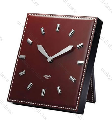 Orologio Hermès Pendulette Plein Cuir #7240