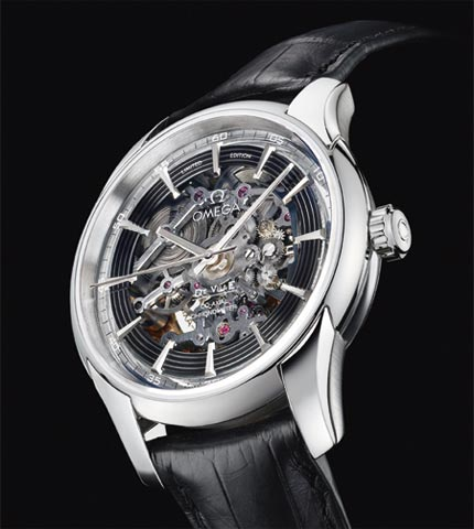 Orologio Omega Hour Vision Co-Axial Skeleton Platinum Limited Edition #11173