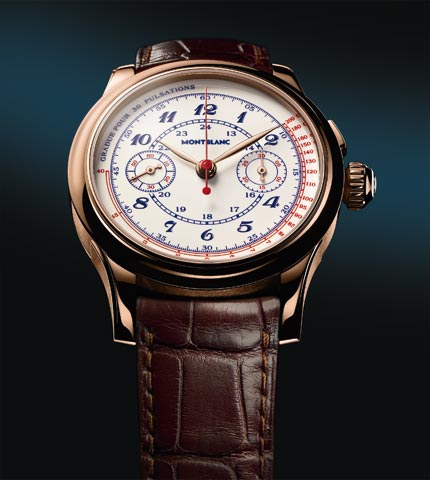 Orologio Montblanc Villeret 1858 Vintage Pulsographe Only Watch 2011 #11276