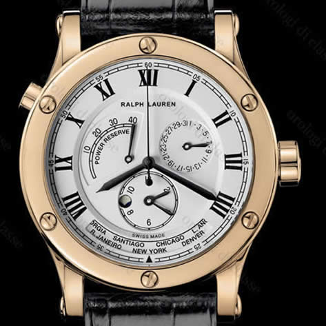 Orologio Ralph Lauren Sporting World Time Red Gold #9684
