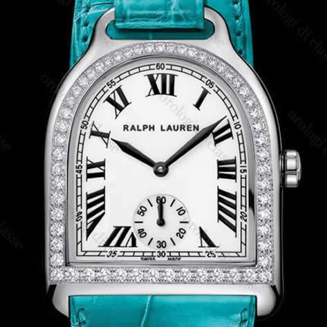 Orologio Ralph Lauren Stirrup Medium White Gold and Diamonds #9688