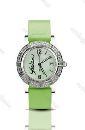 Orologio Yeslam Lady's Sport Quartz Diamond Set Green Bamboo #10533