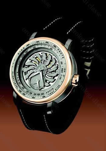 Orologio Yeslam The AVIATOR Automatic dual time, titanium, pink gold #10457
