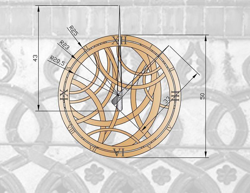 costruire parete di legno : Arabesque Orologio da Parete in Legno Design Filippo Sesti