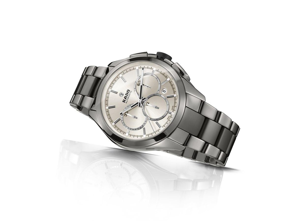 Rado hyperchrome automatic chronograph in ceramica hi tech plasma for Ceramica chronograph