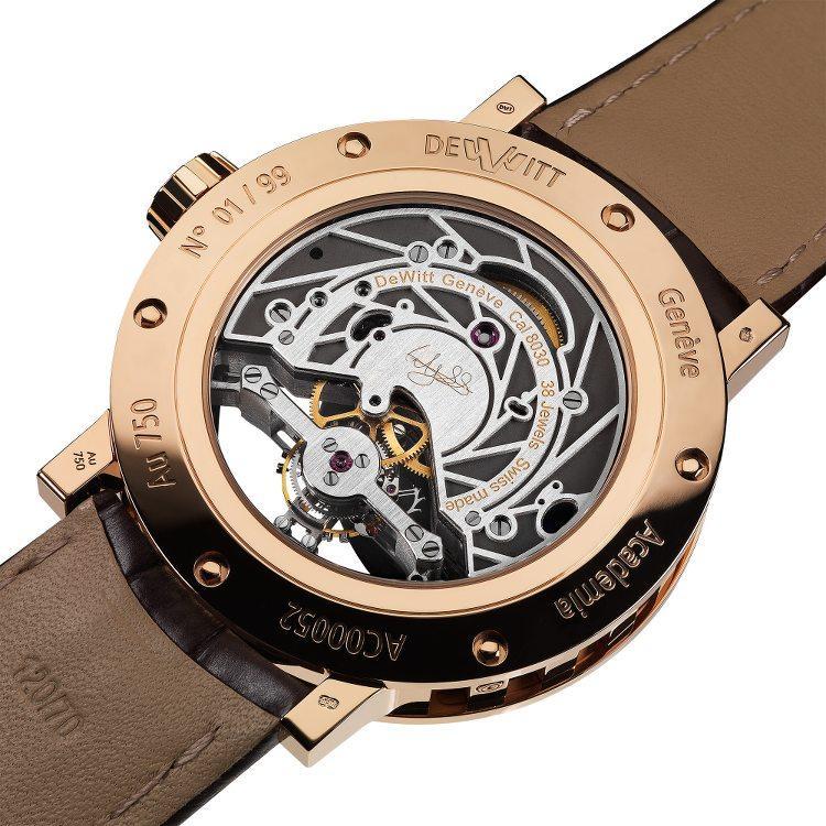 fondello trasparente orologio tourbillon oro rosa