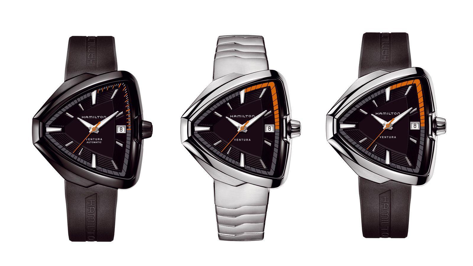 tre orologi Hamilton Ventura Elvis 80
