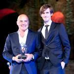 Hamilton Premia Zingaretti con Perez ai Nastri d'Argento di Taormina 2015