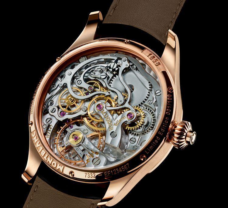 orologio Montblanc 6179 Replica Orologi1858 Chronograph Tachymeter 112637 movimento