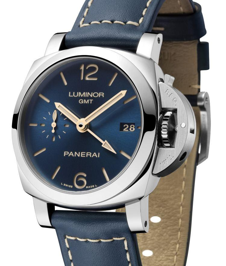 Orologio Panerai Luminor 1950 3 days GMT Automatic Blue Dial #33510