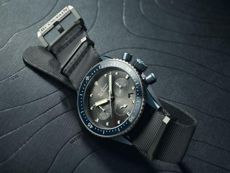 orologio Fifty Fathoms Bathyscaphe Chronographe Flyback Blancpain Ocean Commitment II