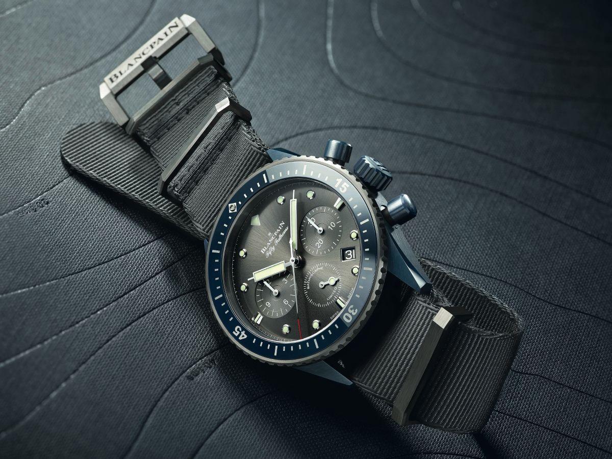 orologio Fifty Fathoms Bathyscaphe Chronographe Flyback Blancpain Quantième Complet Price Replica OrologiOcean Commitment II