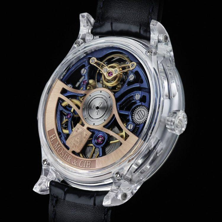 H. Moser & Cie. realizza un altro Venturer Tourbillon Dual Time Sapphire Skeleton
