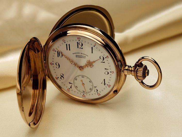 foto orologio tasca storico Glashütte