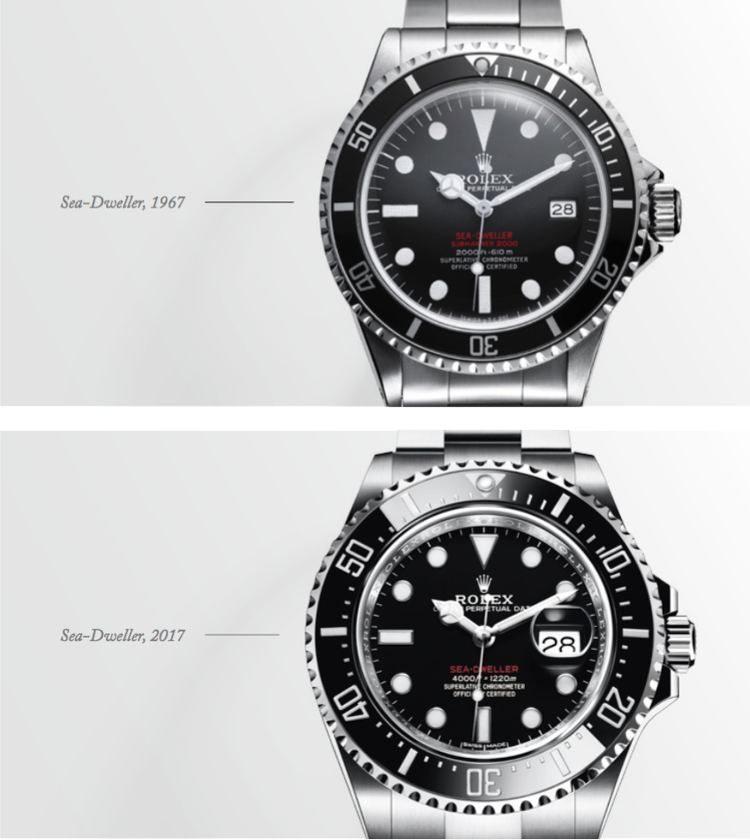 Sea-Dweller 1967 vs Sea-Dweller 2017