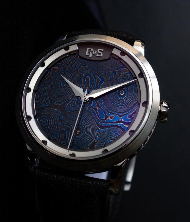 acciaio damasco GoS Sarek Midnight Blue