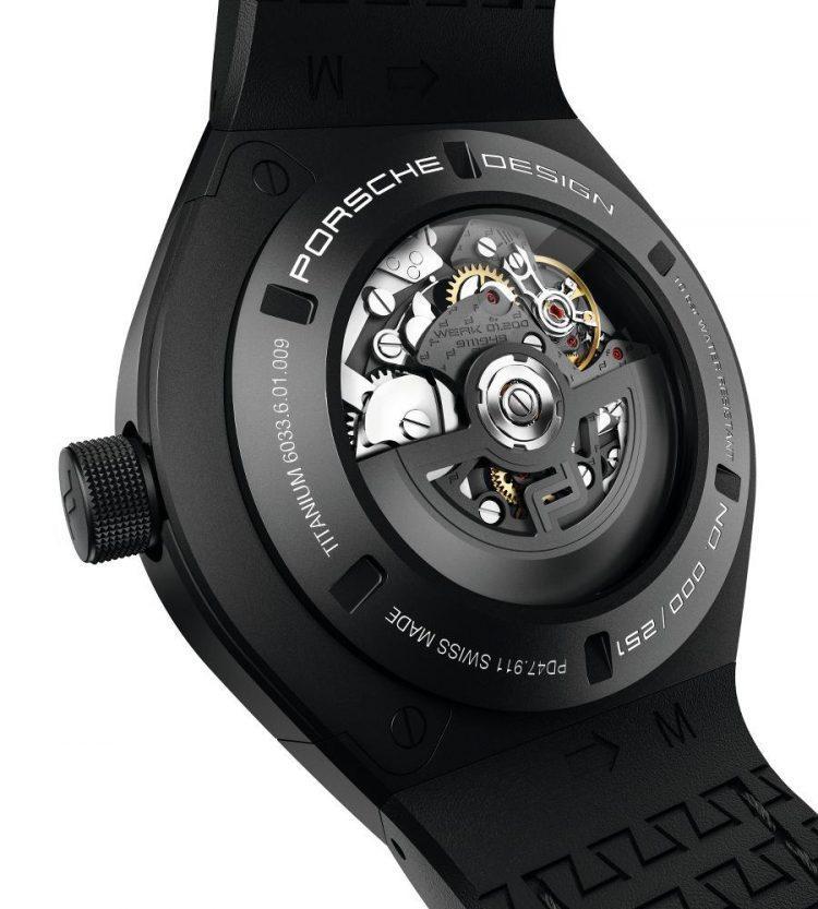 movimento Porsche Design Monobloc Actuator Chronotimer Flyback Limited Edition