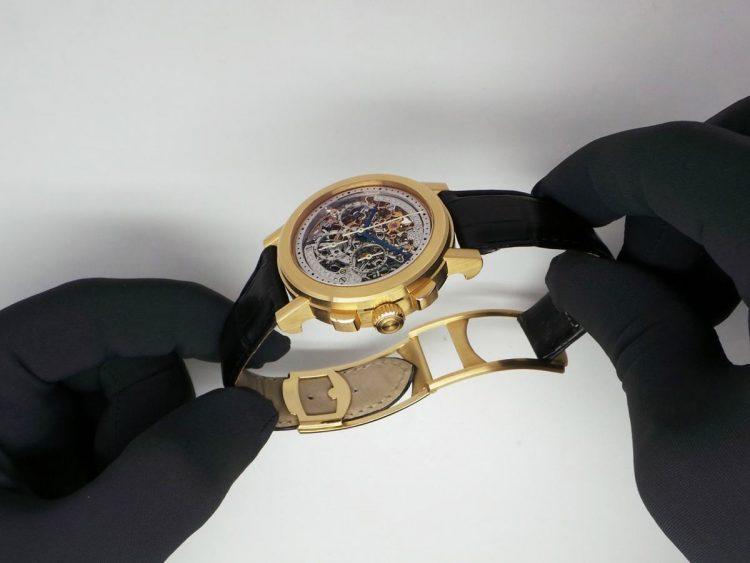 Giovanni Bonomo orologio scheletrato oro