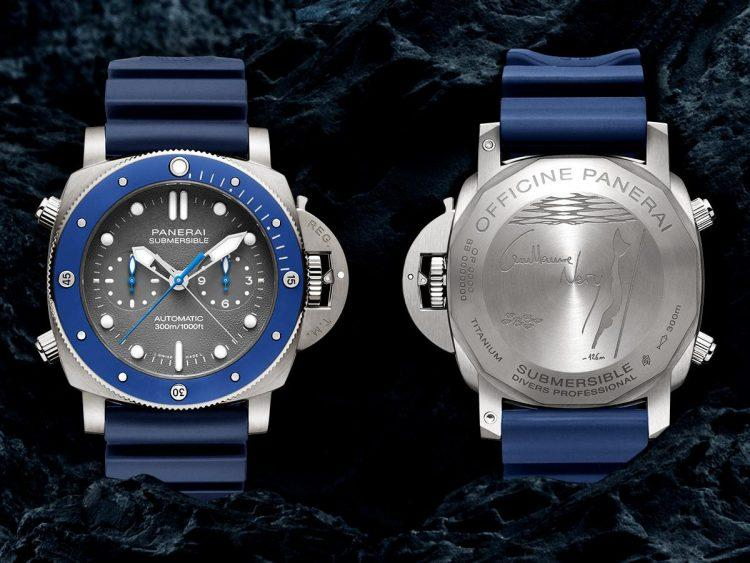 Submersible Chrono Guillaume Néry fronte retro